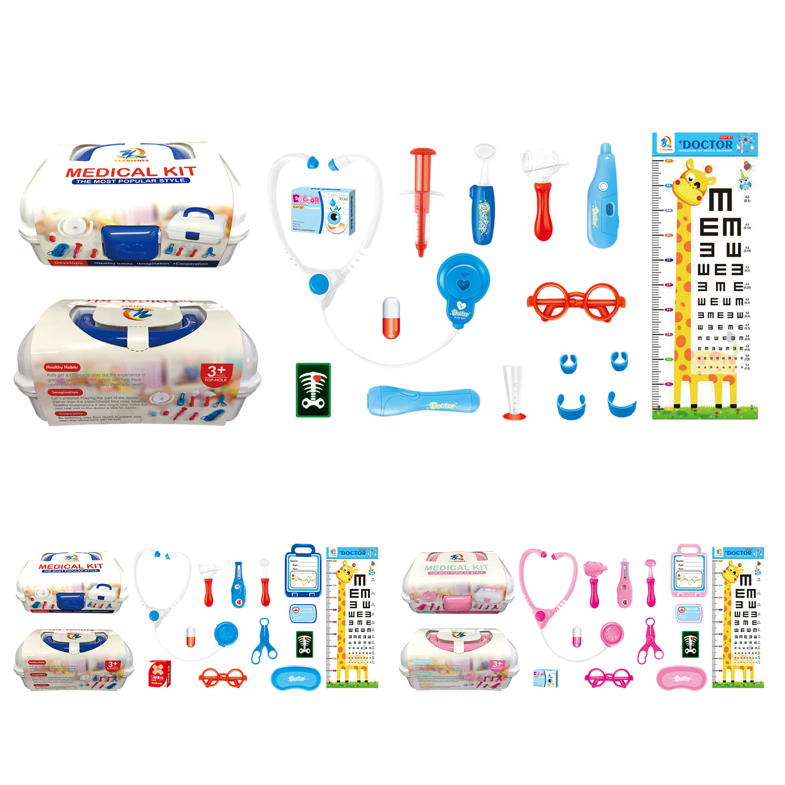 Kids Doctor Toys Set Boy Girl Simulation Family Doctor Kit Children Pretend Play Medical Tools Educationa Role playing Toys