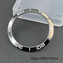 38mm Ceramic Watch Bezel Ring Insert Fit 40mm Automatic Watch 38mm black green ceramic luminous watch ring insert rlx sub 40mm submarine 116610lvn bezel noob ar vr clean zz factory case