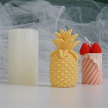 Simulation Pineapple Silicone Candle Mold Reusable Resin Molds For Soap Candle Making Candle Decoration Molds For Chocolate