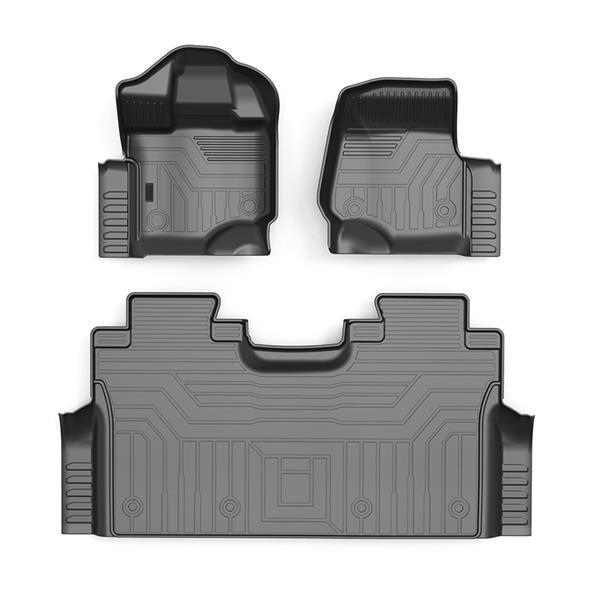 Автомобильный напольный коврик из ТПЭ для Ford F150 SuperCrew XLT 2015 2016 2017 2018 2019 2020, автомобильный водонепроницаемый нескользящий коврик для ног, аксе...