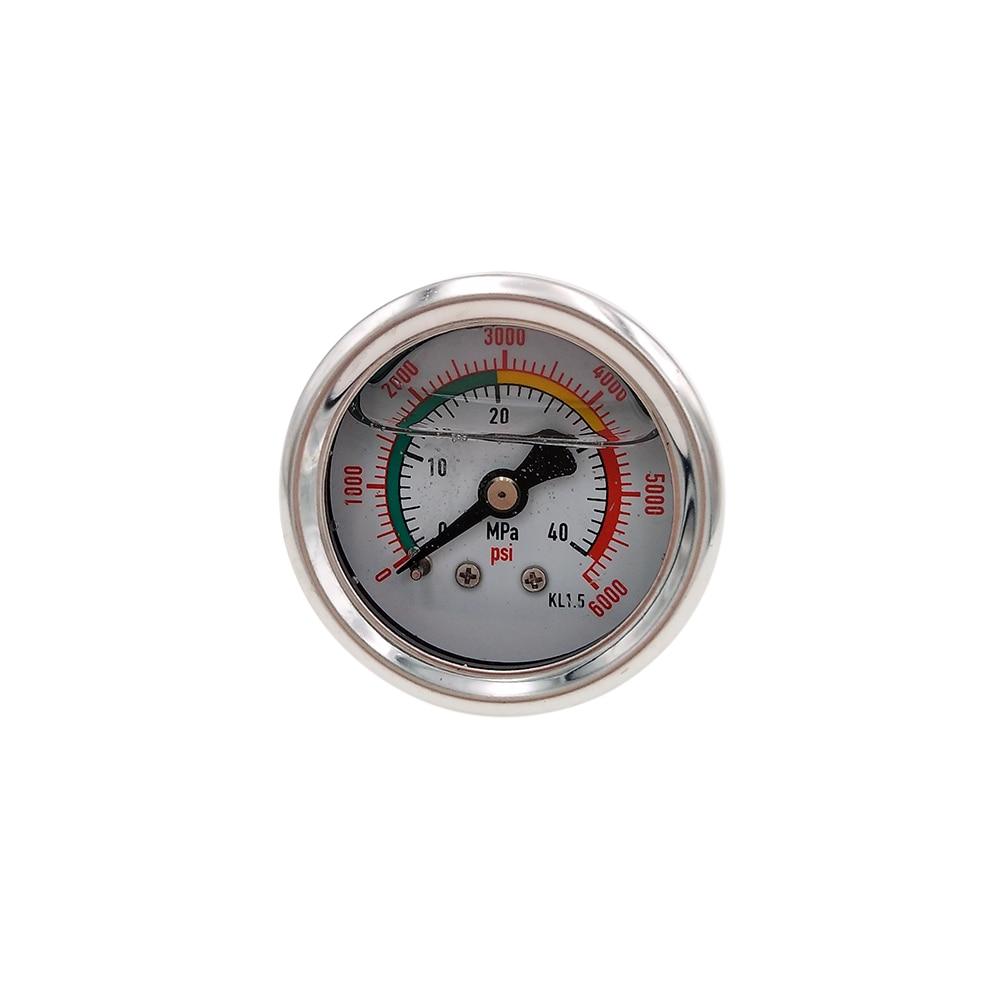 Manomètre de pompe à Air à main PCP 40MPA / 6000psi manomètre haute pression Double gamme M10 * 1.0