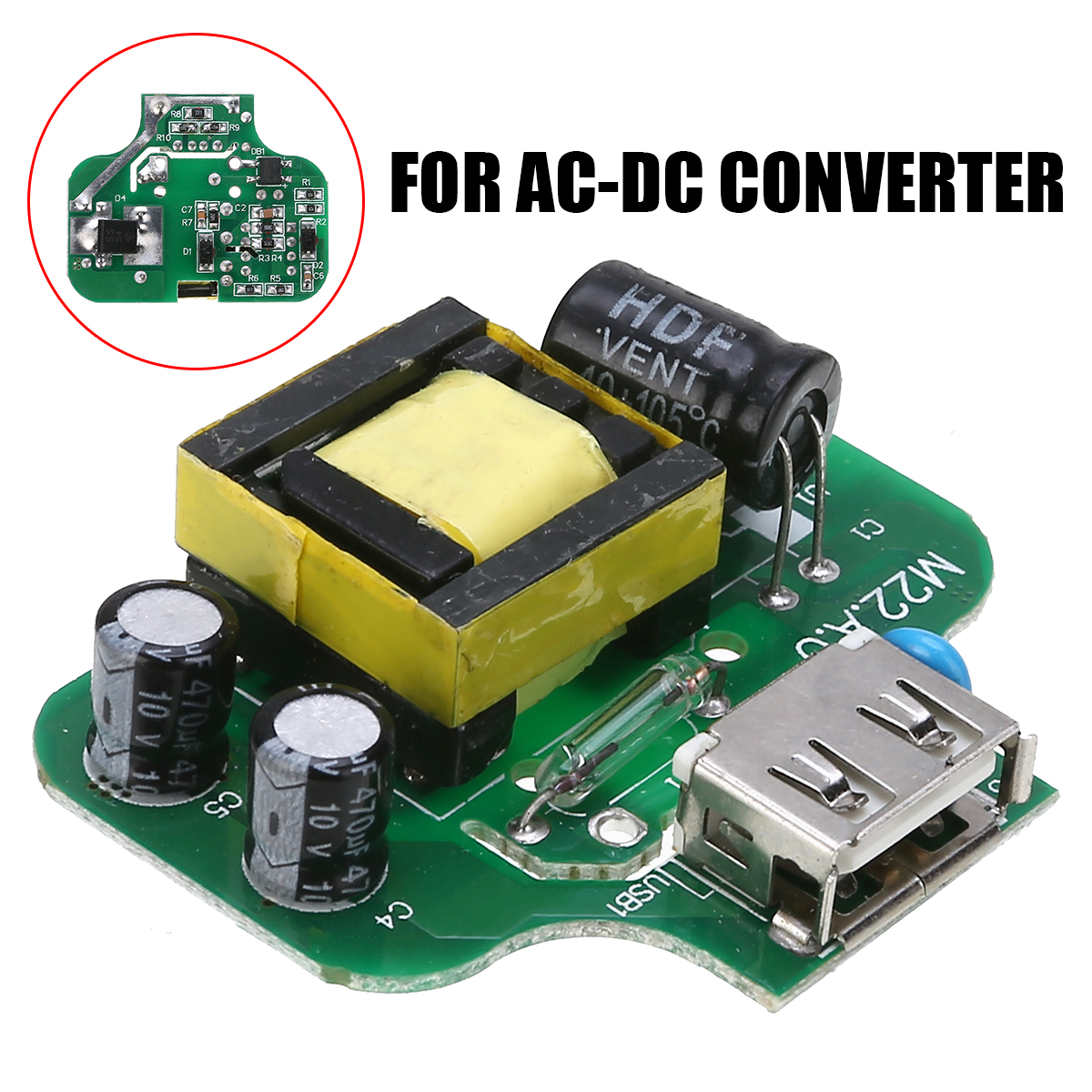 Durable AC-DC Power <font><b>Adapter</b></font> Converter AC 110V <font><b>220V</b></font> 230V <font><b>to</b></font> DC <font><b>5V</b></font> 2.1A USB Output DIY Phone Charger Power Supply Module Board image