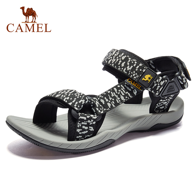 CAMEL New Men Weave Outdoor Sandals Casual Anti-Collision Durable Waterproof High Quality Beach Fishing Sandals 41-46