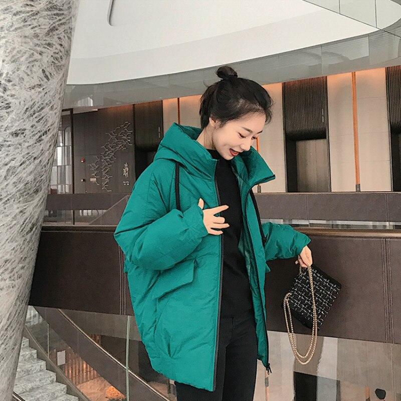 Femmes mode longue Parkas 2019 hiver rembourré veste manteau dame loisirs Style veste poche à capuche chaud manteau Chamarras De Mujer