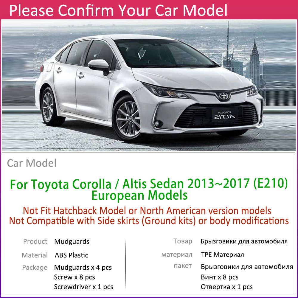 Para Toyota Corolla Altis E210 sedán salón 2019 ~ 2020 guardabarros delantero trasero guardabarros protección salpicaduras accesorios