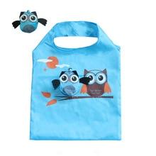 Owl Folding Shopping Bag Animal Environmental Protection Creative Cute Storage Handbag Shoulder