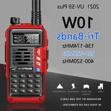 Walkie talkie baofeng-plus with triple-power band| 136-174/220-225/400 mhz| 10w| usb loading| long range ham radio| 10km cb