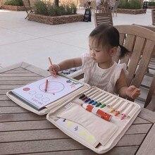 Детские игрушки для рисования, Детская кисть для холста, сумка для хранения, Crayon, большая многофункциональная емкость, обучающие и обучающие игрушки для рисования