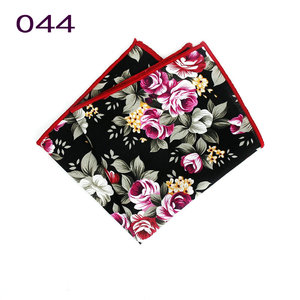 Brand New Style Men's Colorful Hankerchief Scarves Vintage Flower Hankies Men's Pocket Square Handkerchiefs Rose Flower Paisley