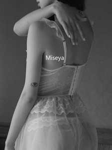 Image 3 - Sexy Nightgowns Lace Nightdress Wedding Dress Open Back Cute Underwear Black V neck Sleepwear Lingerie for Women Summer