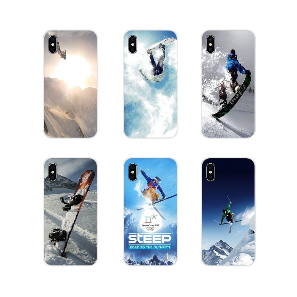 For <font><b>Samsung</b></font> Galaxy S3 S4 S5 Mini S6 <font><b>S7</b></font> Edge S8 S9 S10 Lite Plus Note 4 5 8 9 Accessories <font><b>Phone</b></font> Shell Covers Steep Skiing image