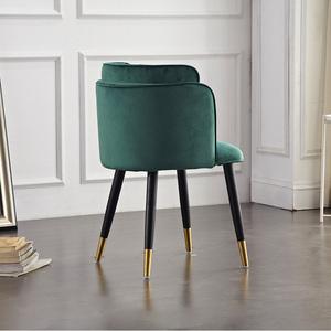 Image 3 - Modern Formal Dinning Chairs Creative Solid Wood Makeup Chair European Fabric Office Meeting Office Shop Chair Furniture