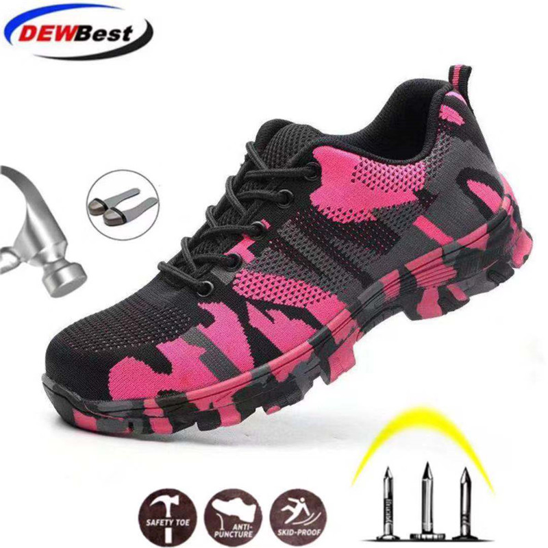 NEW Men Women Safety Steel Toe Cap Work Hiking Mesh Trainers Boots Shoe Sold Hot