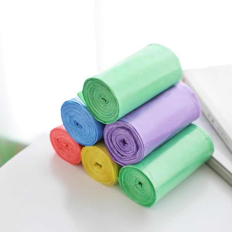1 rolo Cor Sólida Espessamento Grande Saco de Armazenamento De Sacos De Lixo De Plástico para Casa Sacos de Lixo De Lixo Resíduos de Escritório Acessórios de Cozinha