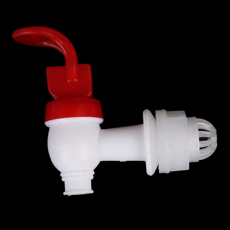 Grifo para tanque de agua de barril de vino de plástico con filtro Válvula de vino dispensador de agua grifo de interruptor Bibcock para botella de vino de vidrio