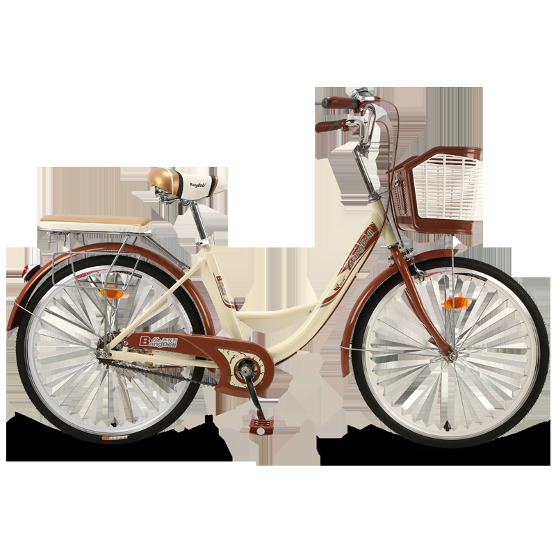 26inch  Bicycle women's adult ordinary commuter bicycle city retro work light adult male and female students lady car