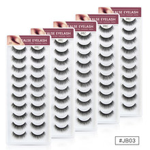 SHISHICAI Soft Natural 3D Mink False Eyelashes 50 pairs/lot Make up Full Strip Lashes Fluffy faux cils