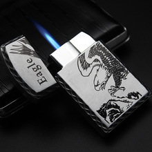 Metal Gas Lighter Torch Electronic Lighters Smoking Accessories Creative Square Gadgets For Men Cigar Cigarettes