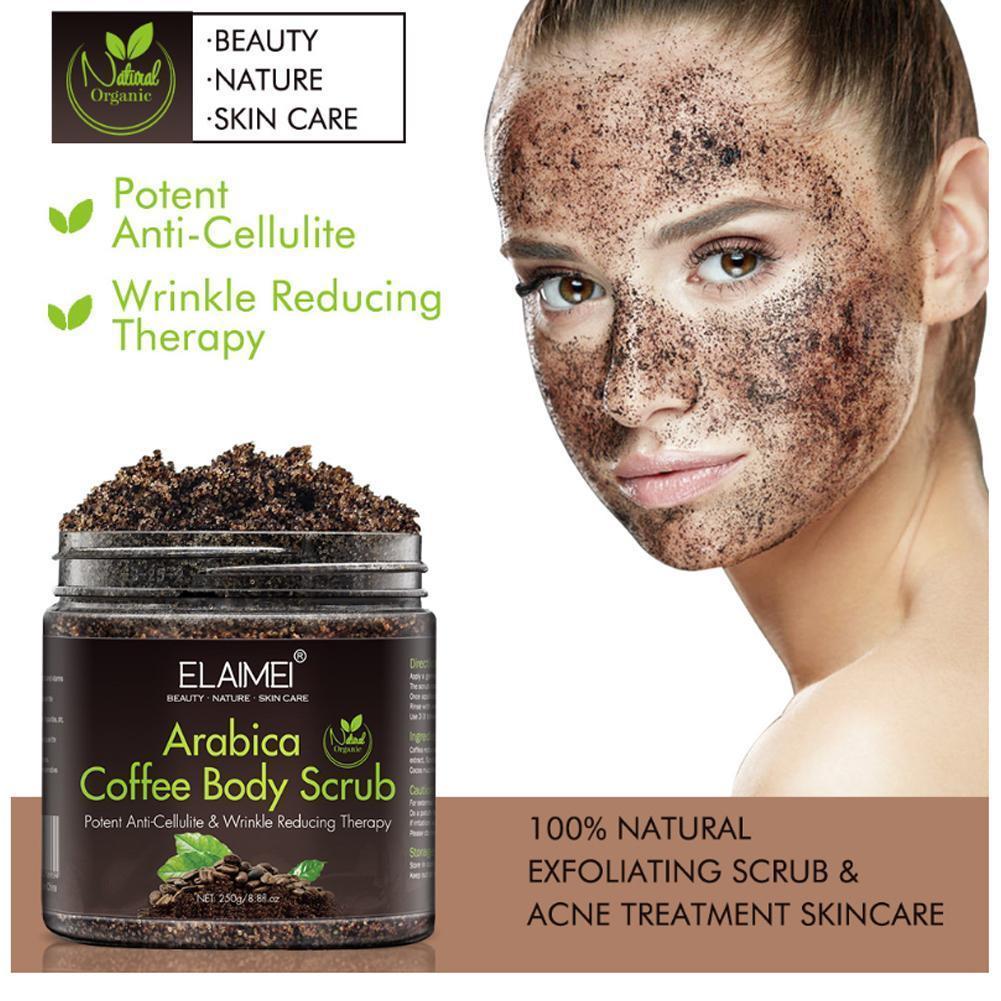 Arabica Coffee Scrub Body Scrub Cream Sea Salt Dead Acne Moisturizing Anti Cellulite Exfoliating Treatment Whitening O7R5