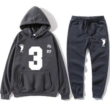 Mens Pullovers suits Hoodies 2020  Men Fashion Sweatshirts Women Autumn Kids Black Tops New Volleyball Junior Character