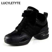 Tênis feminino esportes característica sola macia respiração sapatos de dança tênis mulher prática sapatos modernos sapatos de dança jazz sapatos femininos