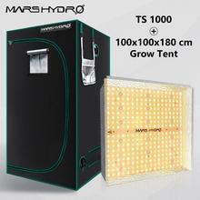 الخطمي TS 1000 واط الطيف الكامل داخلي النباتات led تنمو ضوء و 100x100x180 سنتيمتر تنمو خيمة حديقة الزراعة المائية النبات تنمو ضوء