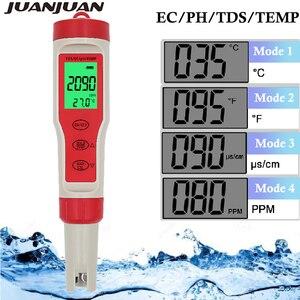 Caneta portátil 4 em 1 digital ph tds ec medidor de temperatura tester filtro de medição água alta qualidade pureza tester 20% de desconto