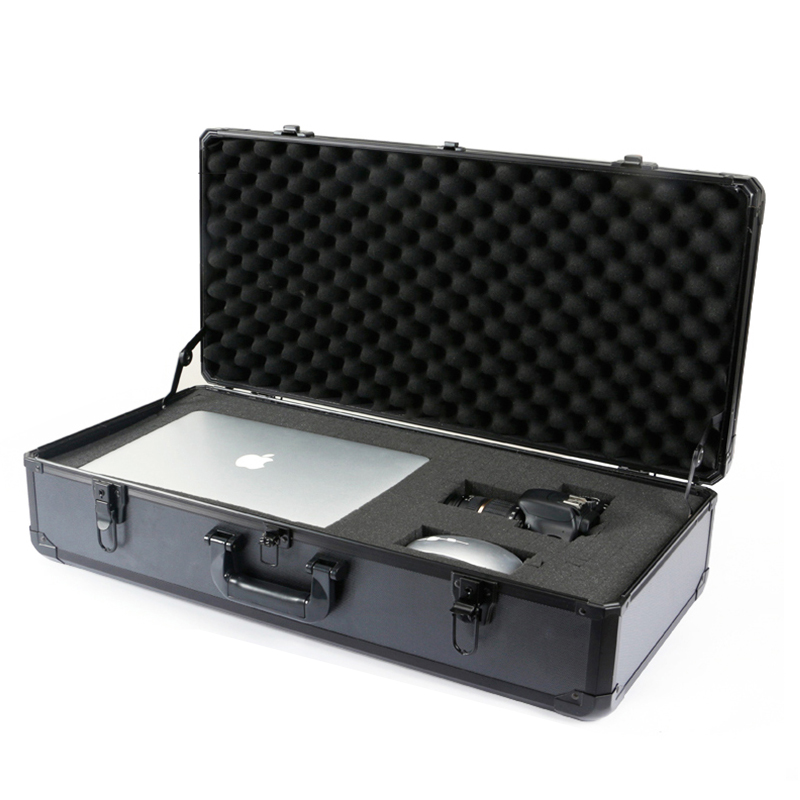 Installation and maintenance of portable aluminum tool box with lock large vehicle storage tool case Home multifunctional black