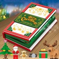 Christmas Series Book Model Building Blocks Brick Compatible Legoing Children Diy Educational Assembled Toys Boy Girl Gifts P40