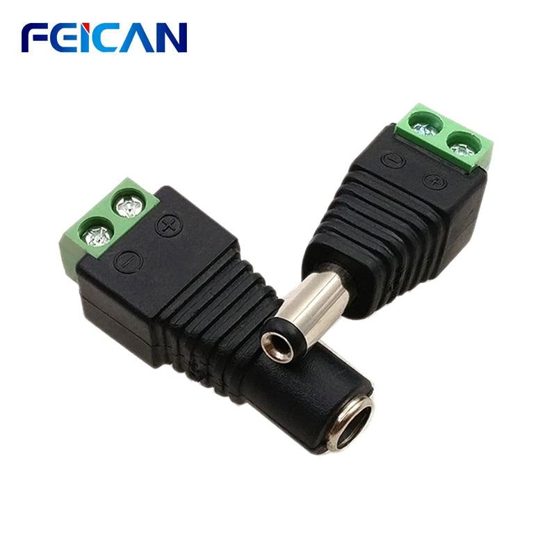 5.5*2,1 DC Stecker 5-Pack FÜHRTE Streifen Jack Buchse Femal/Männlich RGB Controller Einzigen Farbe LED streifen Licht Netzteil Stecker