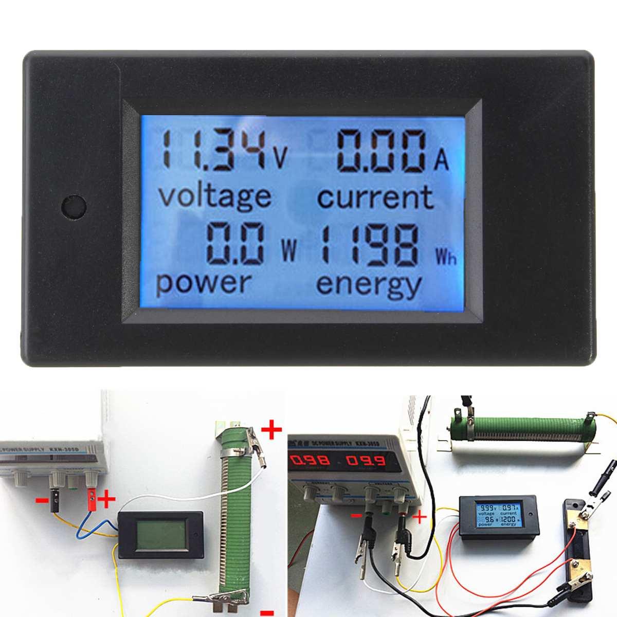 Digital Wattmeter DC 100A 4500W AC Multifunction Digital LED Power Panel Meter Monitor Power Energy Voltmeter Ammeter For DIY