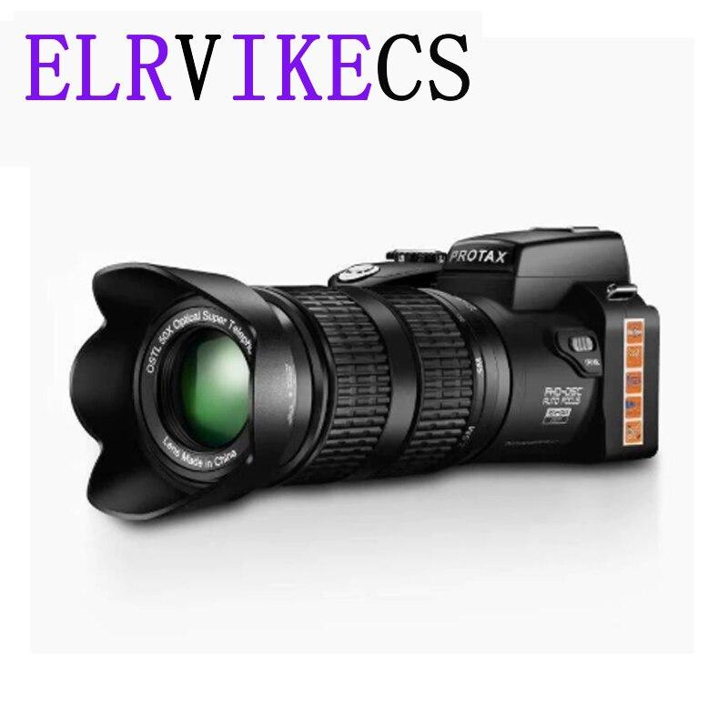 HD цифровая камера ELRVIKECS PROTAX D7100, 33 миллиона пикселей, автофокус, Профессиональная зеркальная видеокамера 24X, оптический зум, три объектива
