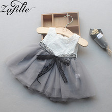 ZAFILLE 2020 Baby Girl Clothes Sleeveless Girls Dress Mesh Lace Toddler Infant Kids Clothes Patchwork Cute Summer Dress For Girl zafille summer dress for girl toddler sleeveless baby girl clothes solid kids clothes bow girls dress cute baby girl clothing