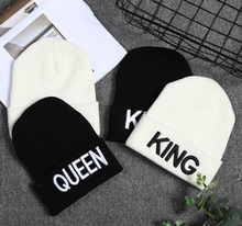 Autumn And Winter Fashion Knitted Hat King Gueen Word Mother And Child Outdoor Adventure Warm And Warm Trend Hat 2021 New