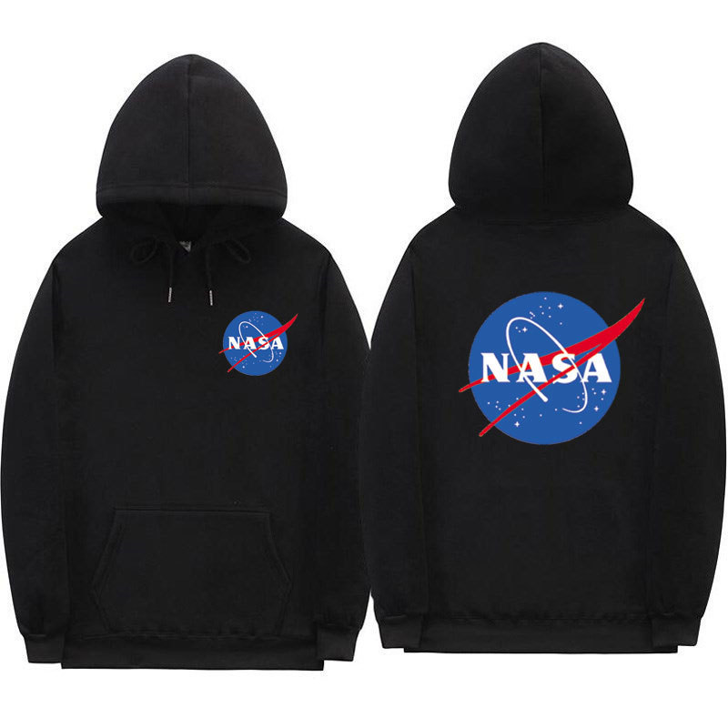 Europe And America Hot Selling NASA Hoodie Casual Long Sleeve Men And Women Lettered Printed Hoodie Popular Stylish Sweatshirt
