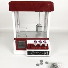 Plástico ABS Mini Boneca de Brinquedo Máquina de Vending Dos Doces Grabber Garra Máquina de Jogo de Arcade Slot de Doces Moeda Operado máquina de Jogo de Entretenimento