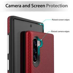 Image 3 - Toiko X Guard Dual Layer Schokbestendig Case Voor Samsung Galaxy Note 10 Telefoon Cover Note 10 Plus Soft Tpu Hard pc Robuuste Armor Shell