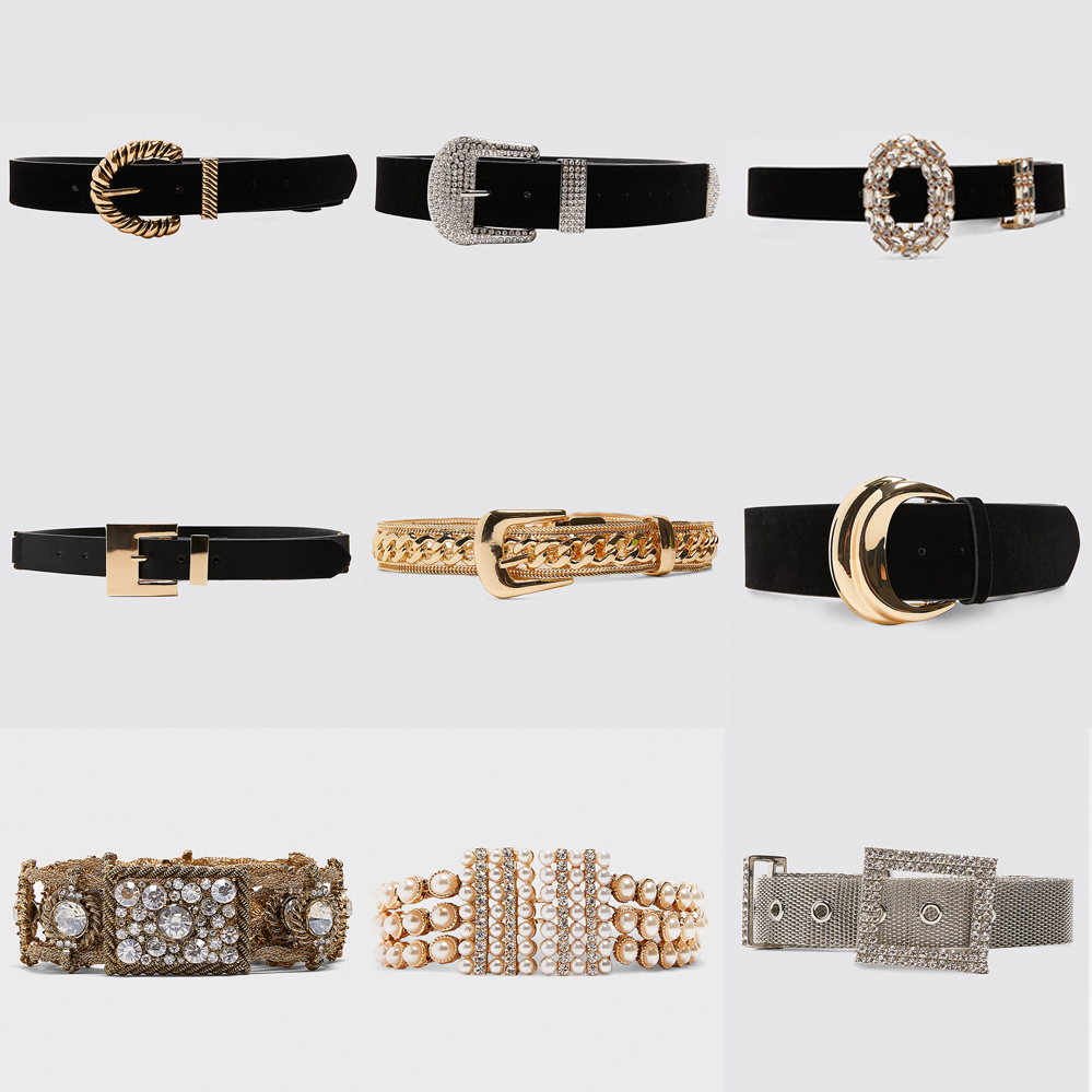 Girlgo 2019 Luxury Brand Za Pearl Belts For Women Charm Crystal Maxi Buckle Statement Belts Female Romantic Waist Party Jewelry