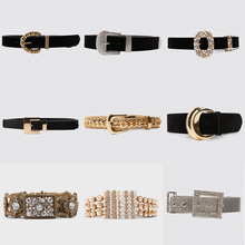 Girlgo 2019 Luxury Brand Za Pearl Belts For Women Charm Crystal Maxi Buckle Statement Female Romantic Waist Party Jewelry