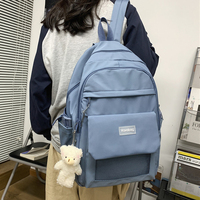JOYPESSIE-대형 여성 방수 배낭, 대학생 노트북 가방, 모칠라 나일론 남성 배낭, 여행 가방