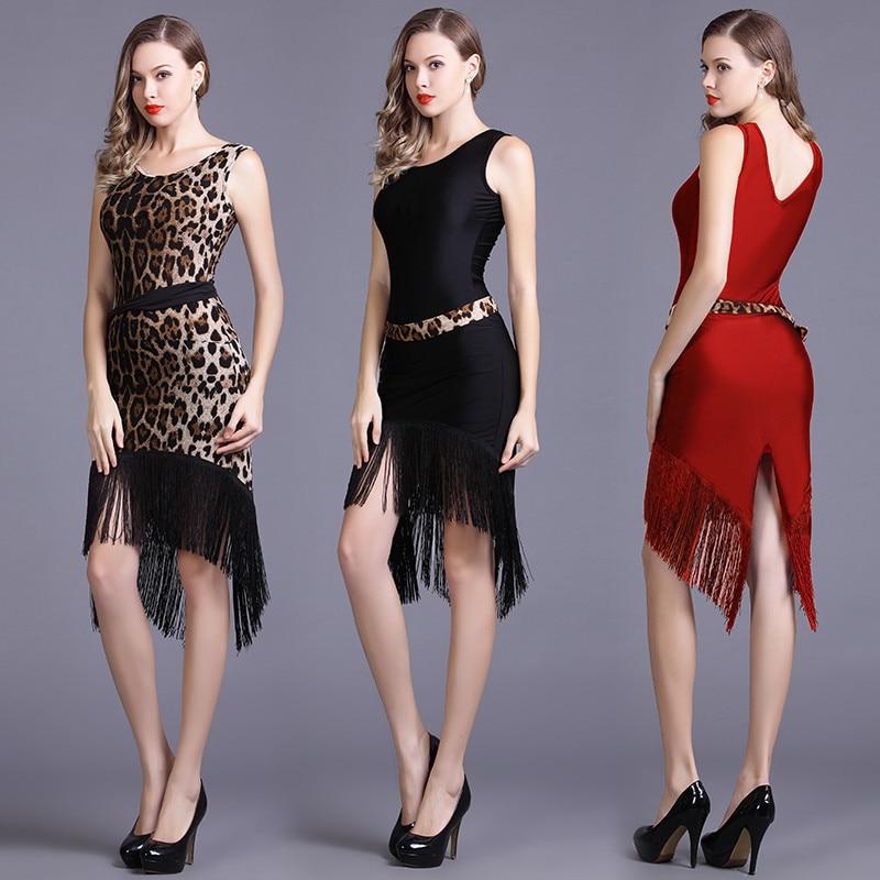 Latin Dance Dress Women Sleeveless Tango Salsa Rumba Samba Cha Cha Ballroom Fringe Dresses Ladies Performance Clothing DC3623