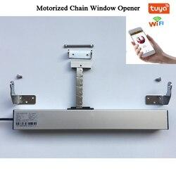 3 линии AC220V смарт Wifi открывалка для окон Tuya моторизованный цепной ключ-открывашка привод окна Skylight створки теплицы Автоматизация дома