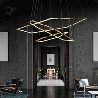 modern LED chandeliers Suspension Light Luxury Gold Fitting Design LED Pendant Lamp for living room Villa Lighting Decoration