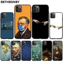 Van gogh pintura arte artística capa de telefone de borracha macia para iphone 11 12 pro xs max 8 7 6s plus x 5S se 2020 xr