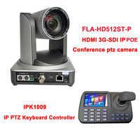 1080p60 Weitwinkel 12x Optische zoom HDMI SDI IP POE broadcast Pan Tilt Zoom Kamera Live-Streaming + IP Tastatur controller
