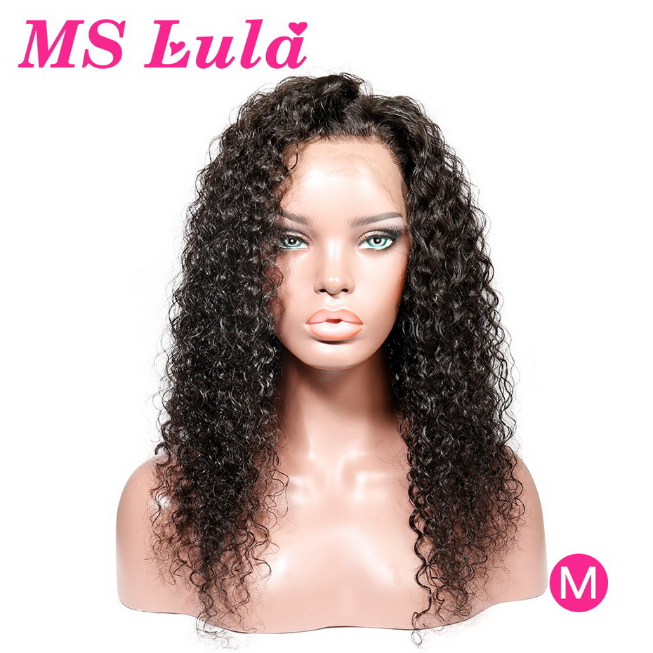 Brazilian Curly Human Hair Wig MS Lula Short 13x6 13x4 Pre Plucked With Baby Hair 150% Remy Wigs For Women Curly Lace Front Wig