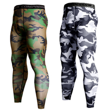 Gym Leggings Pants Compression-Pants Running-Tights Hombre Sport-Man Camouflage Long-Trousers