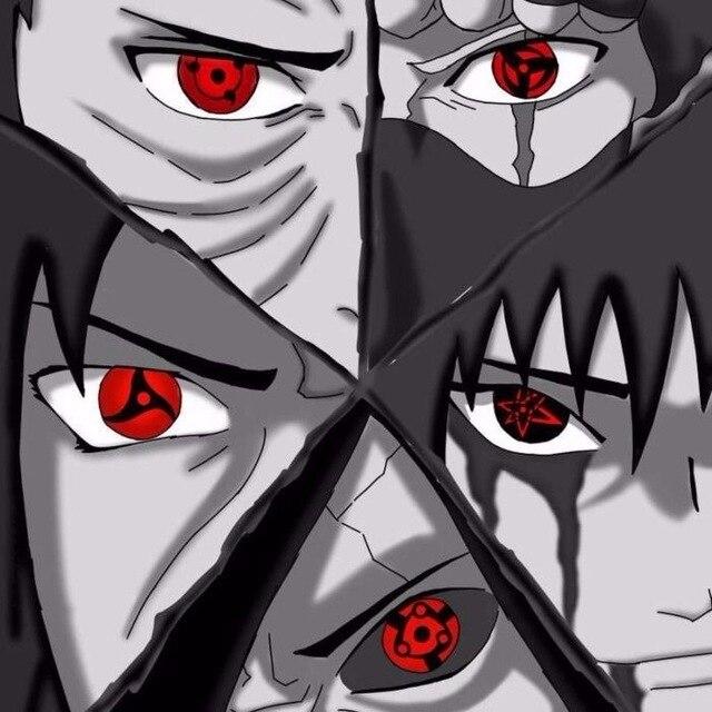 Jewelens Colored Contact Lenses Color Hallowen lens for Eyes Uchiha Eye Cosplay Naruto Sharingan Series 1
