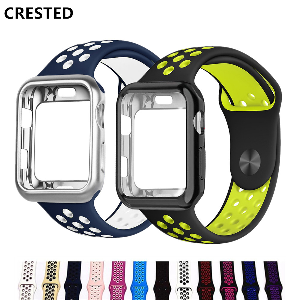 Case+Strap For Apple Watch Band Pulseira Apple Watch 4 3 5 Band 44mm/40mm Iwatch Band Cover 42mm/38mm Correa Watchband Bracelet