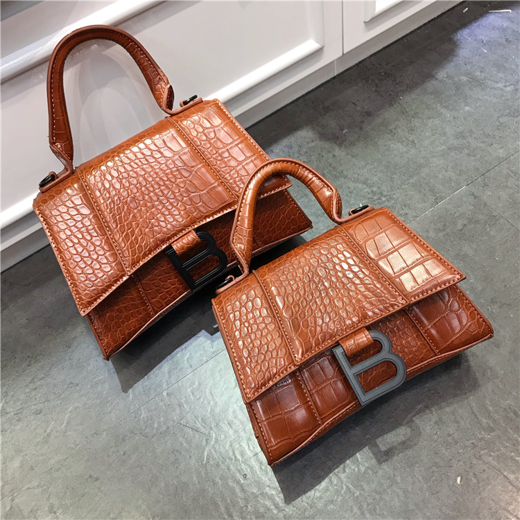 New Stone Pattern Crescent Bag Black B Hand Bags For Women Fashion Design Women Messenger Bag Crocodile Bag